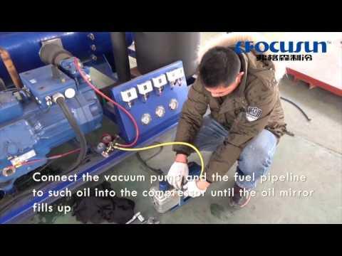 FOCUSUN Cómo cambiar el aceite del compresor?(Bock)