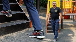 Комплекс упражнений на ноги. Тренировка на улице.