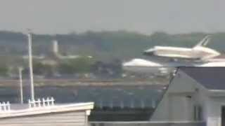 space shuttle enterprise approach landing at jfk airport broad channel queens nyc 4 27 2012
