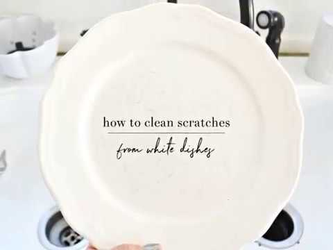 How To Remove Scratches From White Dishes & How To Remove Scratches From White Dishes - YouTube