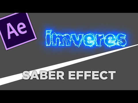 After Effects CC 2019 | Saber Effect Tutorial