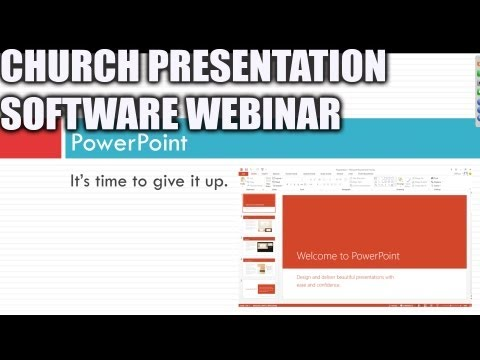 Church Presentation Software Webinar