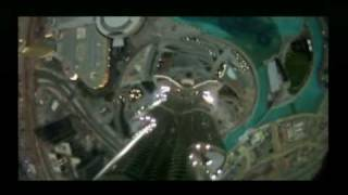 BBC News Base Jumpers Jump off world's tallest building The Burj Khalifa skyscraper in Dubai