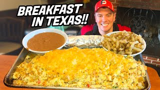 Monster Texan Migas Breakfast Challenge!!