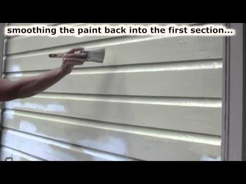 How to Paint House Exterior Siding with a Brush