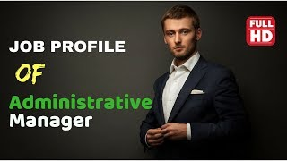 Administrative manager job description in english