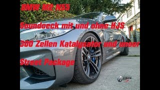 BMW M2 mit HJS 300er Downpipe  Sound vs. Original und Street Package