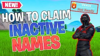 Comment réclamer OG INACTIVE FORTNITE NAMES (2019) - PATCHED