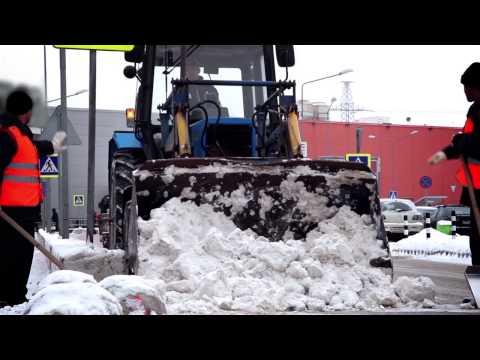 Уборка прилегающих территорий Зимой