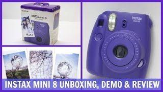 Fujifilm Instax Mini 8 Unboxing Demo And Review
