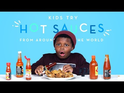 Kids Try Hot Sauces from Around the World | Kids Try | HiHo Kids