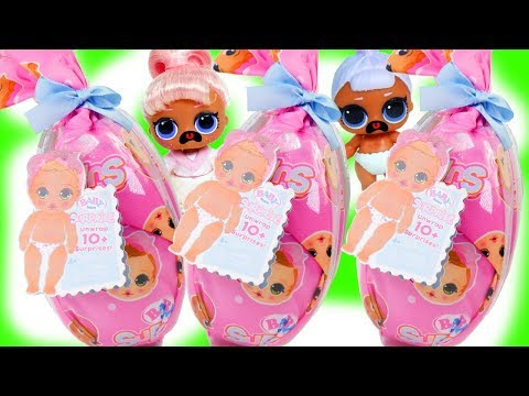 GOLD Baby Born Surprise Babies with #Hairgoals Series 5 LOL Dolls Opening