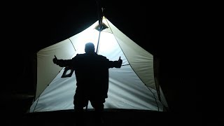 Solo Camping Alone Overnight In Hot Tent (70 Subscriber Special 2nd Year Anniversary)