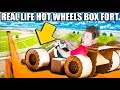 WORLDS SMALLEST Transforming HOT WHEELS Box Fort Race Track!!