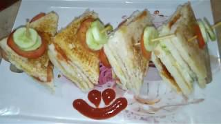 Nuggets Club Sandwich Recipe  Lunch Box Recipe