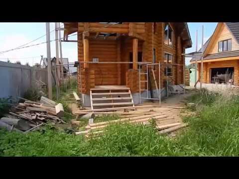 Дом - баня из оцилиндрованного бревна в Новосибирске. УЮТ -ГРУПП.