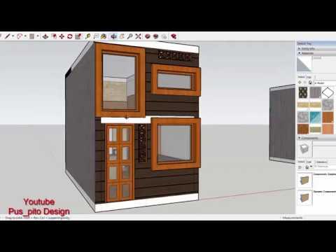 Contoh Denah Rumah Persegi Panjang desain rumah mikro 3x6 meter serius woow nyaman banget 09