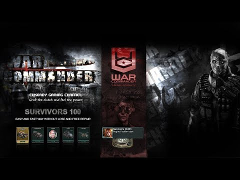war commander - NEW Survivors 100 Token base easy , fast and free repair but i did 1 wrong move