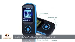 HONGYU® Latest Portable Hi-Fi 16GB Bluetooth MP3 Player with FM Radio 50 Hours Lossless Playing &