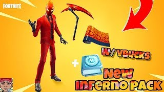 """NEW Fortnite """"INFERNO PACK"""" INCLUDES NEW SKIN, PICKAXE, WRAP & INFERNO CHALLENGES! Fortnite BR"""