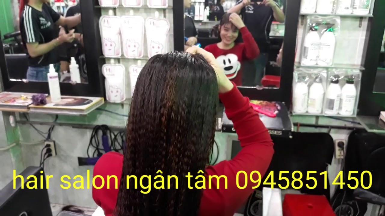 Làm mẫu tóc bấm phòng để chơi tết 2018  (làm đẹp tại bình dương)