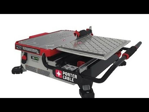 Porter cable 20v max table top wet tile sawpcc780la youtube porter cable 20v max table top wet tile sawpcc780la keyboard keysfo Gallery