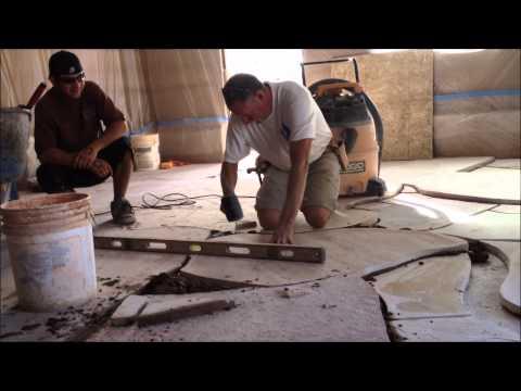 Setting Flagstone in Mortar