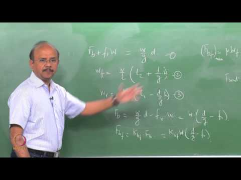 Vehicle Dynamics online course video lectures by IIT Madras