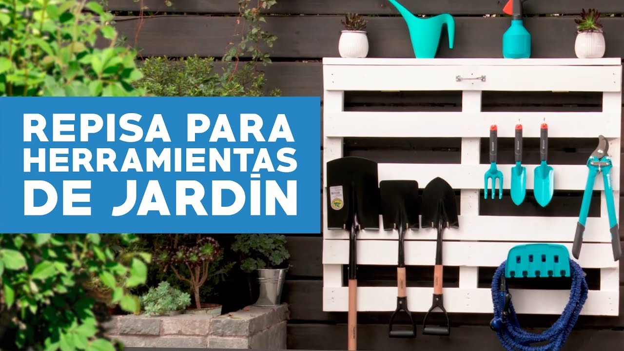 C mo hacer una repisa de pallet para herramientas de for Herramientas para el jardin