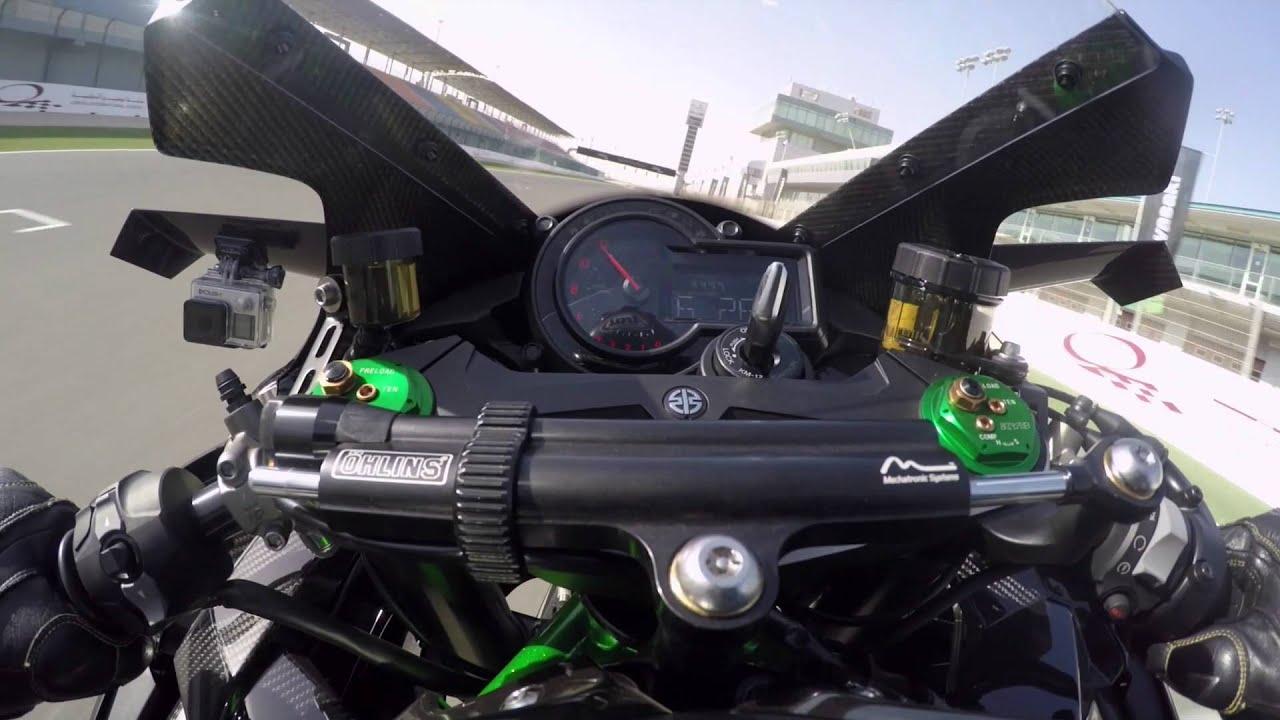 Kawasaki H2R Onboard At Losail