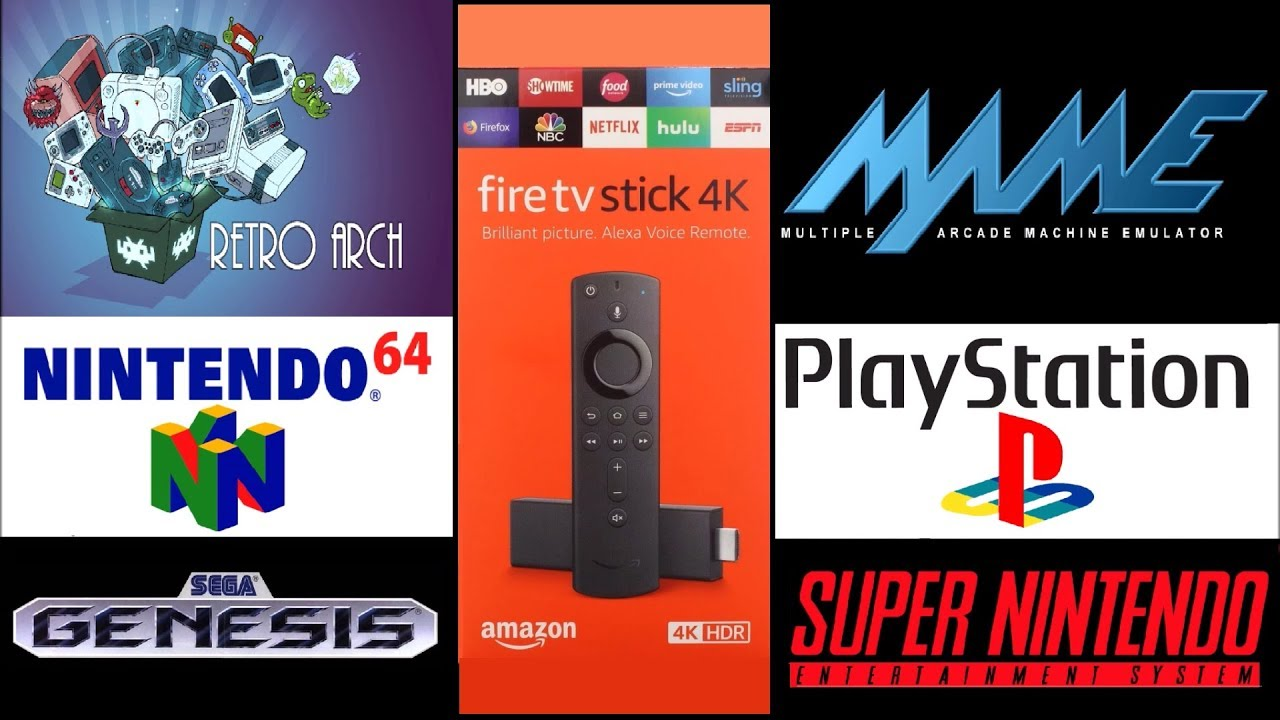 How to SideLoad/Install RetroArch on Amazon Fire TV 4K Stick play  PlayStation,MAME,N64,SNES&SEGA