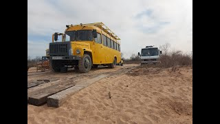 КАВЗ АВТОДОМ из Темрюка. School bus conversion in Russia.