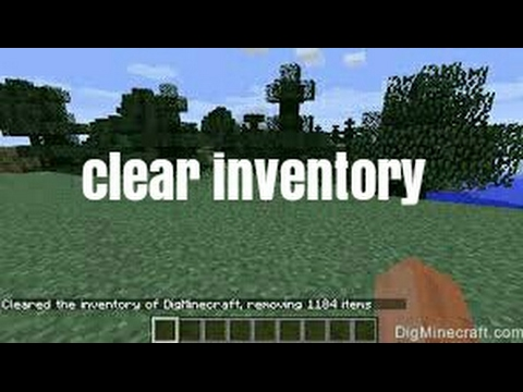 How to clear your inventory in minecraft! Fast way