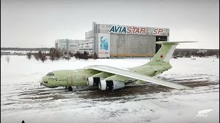 New air tanker 'Ilyushin' IL-78M 90A first flight in Ulyanovsk (Raw footage)