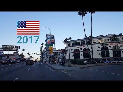 Driving Around Los Angeles, USA: July, 2017