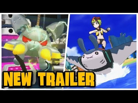 NEW SURF FEATURE and TRIALS REVEALED!! - Brand New Trailer! (Pokemon Ultra Sun and Moon)