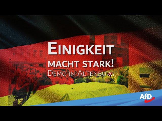 EINIGKEIT MACHT STARK - Demo in Altenburg/Thüringen