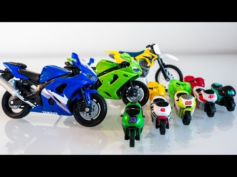 Toy Motorcycles for Kids| Toys & Games Video 오토바이 장난감 놀이 игрушка мотоцикл