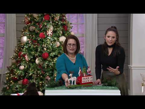 Plow & Hearth Wooden Advent Calendar Sleigh on QVC