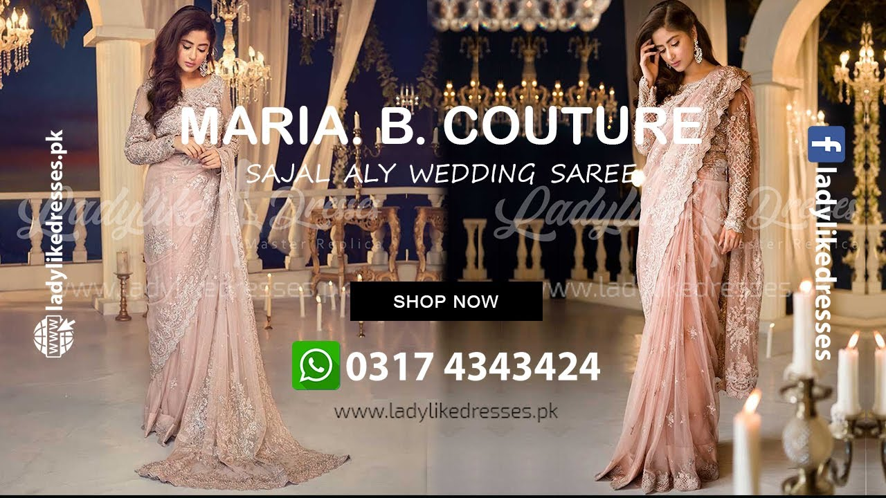 Maria B Couture Pastel Pink Wedding Collection '20   Saree