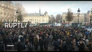 LIVE: Students take to the streets of Paris to protest against new education fees