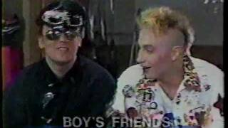 Boy George, Marilyn & Jocelyn Brown in a 1985-86 studio interview.