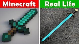 MINECRAFT DIAMOND SWORD IN REAL LIFE! Minecraft vs Real Life animation CHALLENGE