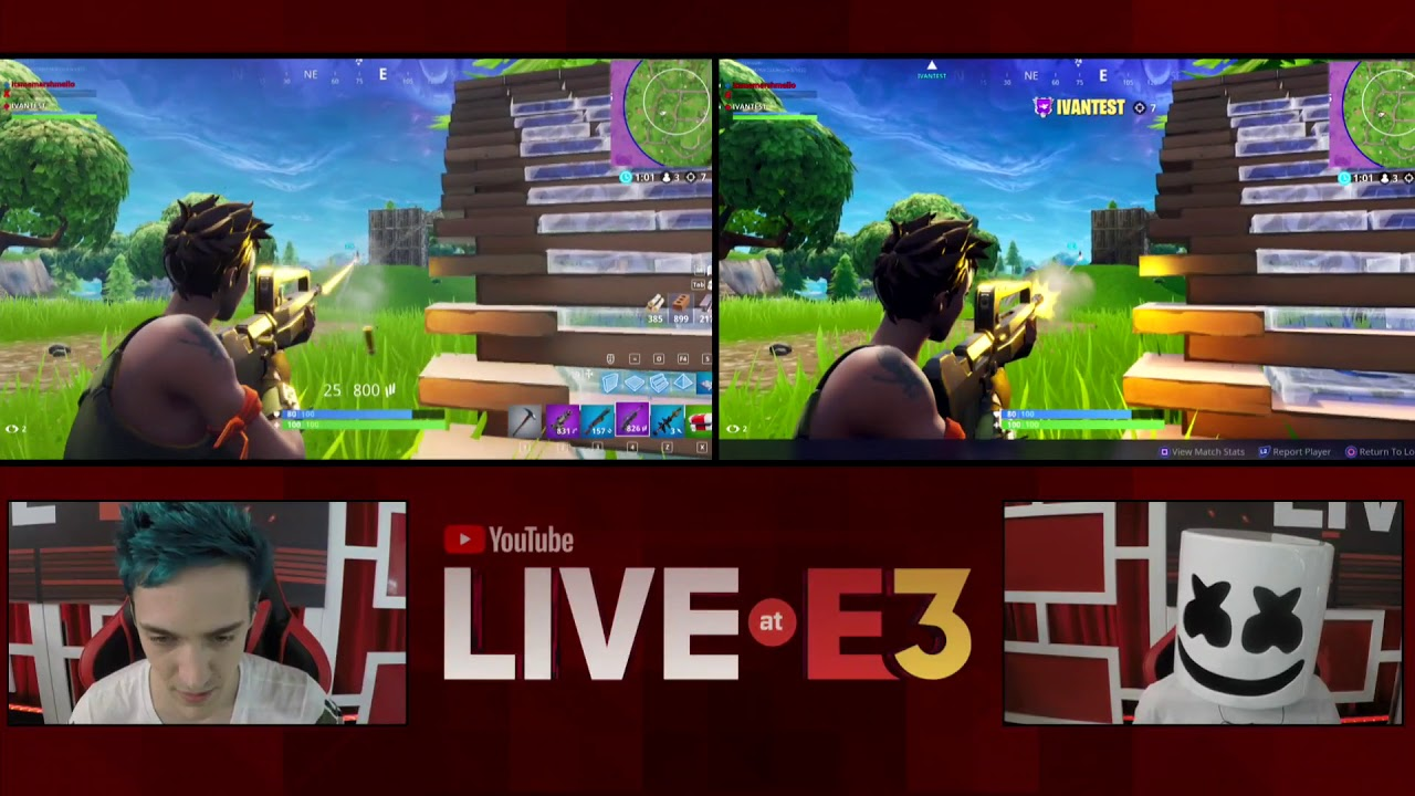 Victory Royale Ninja And Marshmello Play Fortnite At The Youtube
