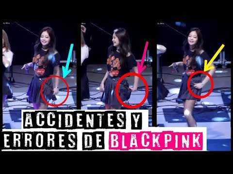 ACCIDENTES & ERRORES DE BLACKPINK / BLACKPINK'S ACCIDENTS & MISTAKES