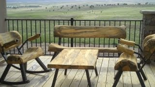 Log Furniture Rocks Colorado Territory Days By Mitchell Dillman