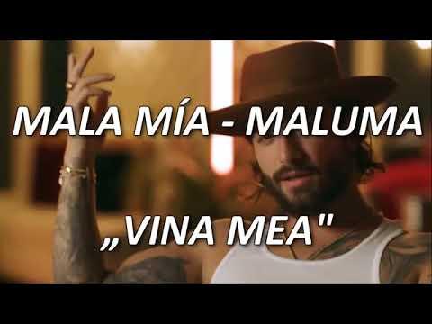 Maluma Mala Mía versuri în română