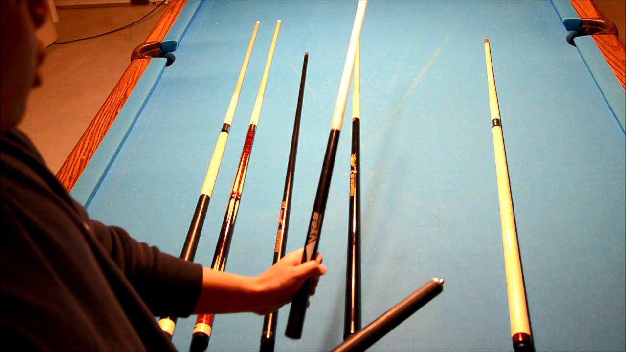Types Of Pool Cues Snooker Cues Youtube