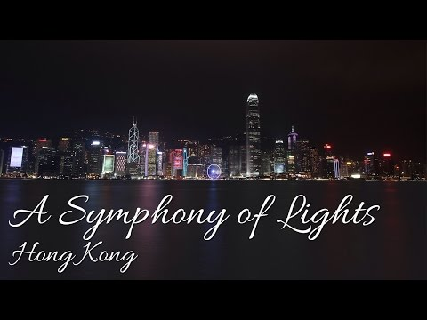 A Symphony of Lights - Avenue of Stars, Tsim Sha Tsui, Hong Kong (HD)