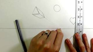 how to draw shapes in 1 point perspective